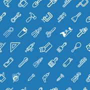 Stock Illustration of Tilable tools background texture
