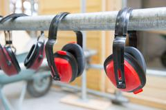 Ear protection for noise Stock Photos