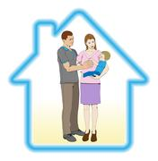 Family home concept Stock Illustration