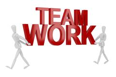 Stock Illustration of team work word  in isolate with clipping path