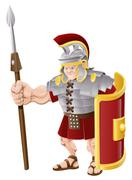 Stock Illustration of Strong Roman Soldier Illustration