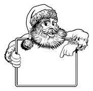 Christmas Santa Claus Sign - stock illustration
