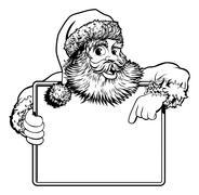Stock Illustration of Christmas Santa Claus Sign
