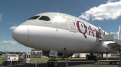 Qatar Airways Boeing 787 Dreamliner Stock Footage