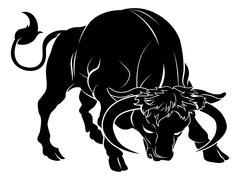 Stylised bull illustration Stock Illustration