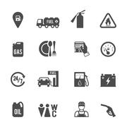 Fuel Pump Icons Set - stock illustration