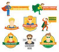 Stock Illustration of Superhero label