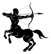 Stylised centaur archer illustration - stock illustration