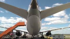 Boeing 787 Dreamliner Underside & Rear Stock Footage