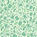 Green vector baby born seamless pattern Stock Illustration