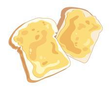 cheese on toast - stock illustration