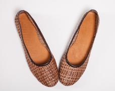 New brown shoes Stock Photos
