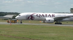 Airbus A350 XWB Being Pushed Back onto Runway Stock Footage