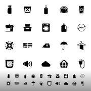 Laundry related icons on white background Stock Illustration
