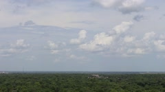 Pan across city of Topeka, KS skyline 2 Stock Footage
