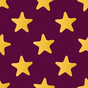Cute vector seamless pattern (tiling) made of stars. endless texture can be u Stock Illustration