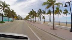 Drive Ft Laud Beach FL stock footage Stock Footage