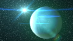 Gas planet in space gas giant Stock Footage
