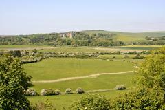 adur valley at shoreham. england - stock photo