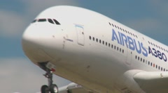 Airbus A380 Close up Landing Stock Footage