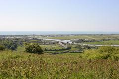 airport at shoreham. sussex. england - stock photo