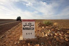 Marrakech 414 km - stock photo