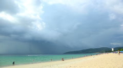 Tropical storm is coming at the Phuket. Timelapse. Stock Footage