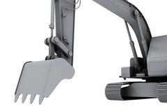 Grey model of the digger - stock photo