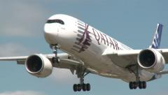 Airbus A350 XWB in A Stunning Landing Stock Footage