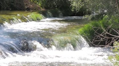 MREZ 37 Beautiful sparkling low river green waterfalls rapids 1 Stock Footage