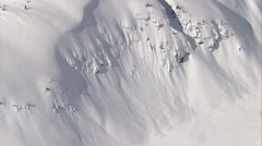 1080HD Cineflex British Columbia Deep Snow Stock Footage