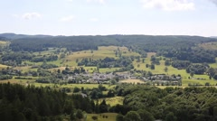 View to Hawkshead village Lake District National Park England uk Stock Footage