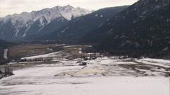 1080HD Cineflex British Columbia snowy mountain valley - stock footage