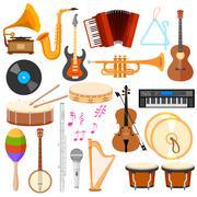 Music instrument - stock illustration