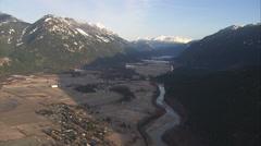 1080HD Cineflex British Columbia mountain valley Stock Footage