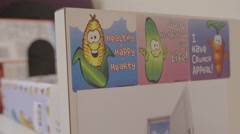 Healthy Eating Posters in Doctor's Office Stock Footage