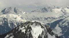 1080HD Cineflex British Columbia Snowy Mountain Range Stock Footage