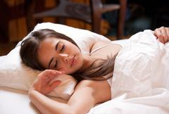 A good night's sleep. Stock Photos
