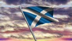 Scottish Flag Animation Stock Footage