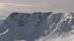 1080HD Cineflex British Columbia flyby cliff Stock Footage