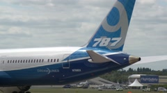 Boeing 787 9 Pushback Stock Footage
