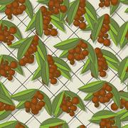 coffee brunch pattern - stock illustration