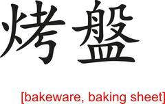 Chinese Sign for bakeware, baking sheet Stock Illustration