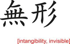 Chinese Sign for intangibility, invisible Stock Illustration