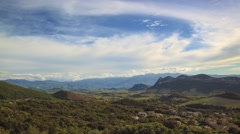 Great intro background, Summer landscape in mountains and dark blue sky Stock Footage