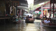 Thailand's most famous Floating Market. Stock Footage
