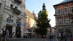 Evening Lviv Stock Footage