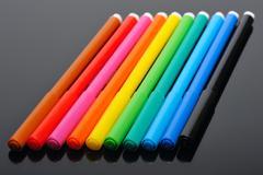 Colored felt pens - stock photo