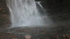 Base of the waterfall at Njupeskar Stock Footage