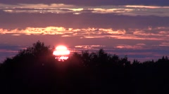 Quick sunset over the forest Stock Footage